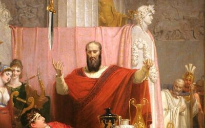 Sword of Damocles, 1812, oil on canvas. Richard Westall. Ackland Museum, Chapel Hill, North Carolina (Public domain)