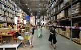 Israelis shop at the IKEA furniture store in the central Israeli town of Rishon le Tzion. October 10, 2014. (Yaakov Naumi/Flash90)