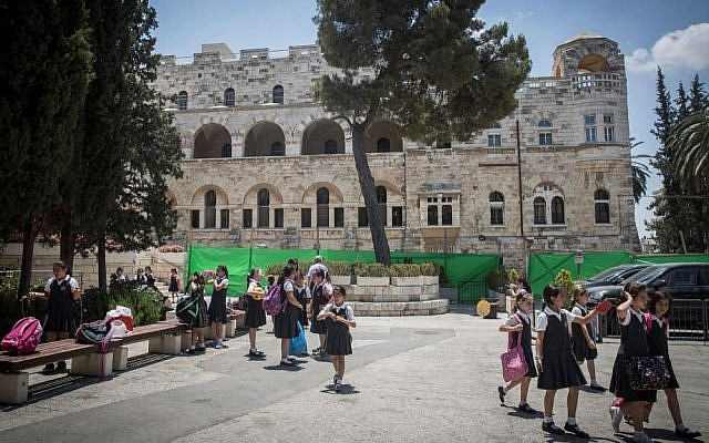 Illustrative photo of a school in East Jerusalem. June 16, 2015. (Hadas Parush/Flash90)