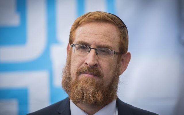 Likud Knesset member Yehuda Glick, September 27, 2016. (Yonatan Sindel/Flash90)