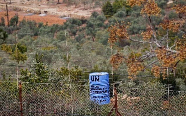 A view of Lebanon as seen from the Israeli side of the Israeli-Lebanon on November 10, 2016. (Doron Horowitz/Flash90)