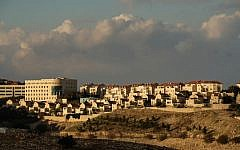 View of the Israeli settlement of Ma'ale Adumin, in the West Bank on January 4, 2017. (Yaniv Nadav/Flash90)