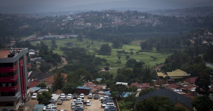 The view of Kigali from K-Lab, a government-funded start up hub and co-working space in Kigali, Rwanda, on February 16, 2017. (Miriam Alster/Flash90)