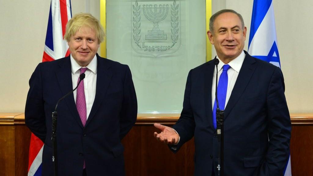 Resultado de imagen de boris johnson netanyahu