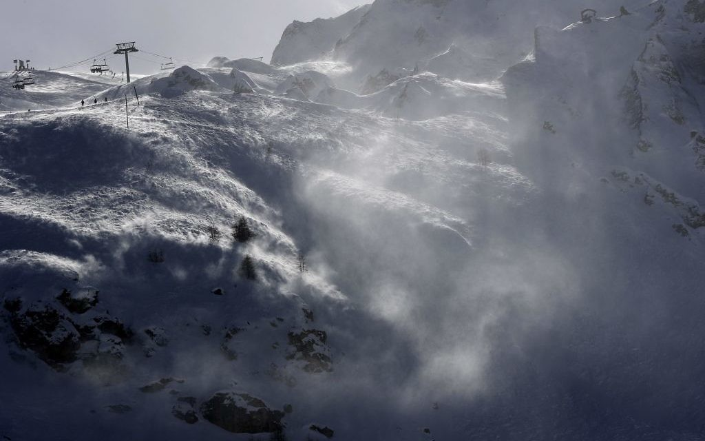 The Lavachet Wall at the Tignes ski resort in the French Alps on February 14, 2017. French officials say an avalanche has struck the Alpine ski resort on March 7, 2017. (Luca Bruno/AP Photo)