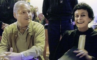 Venezuelan international terrorist Carlos the Jackal (left), sits with his French lawyer Isabelle Coutant-Peyre in a Paris courtroom, November 28, 2000. (AP/Michel Lipchitz, File)