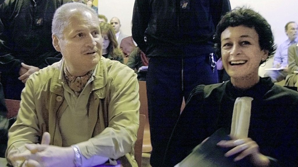 Venezuelan International Terrorist Carlos The Jackal Left Sits With His French Lawyer Isabelle
