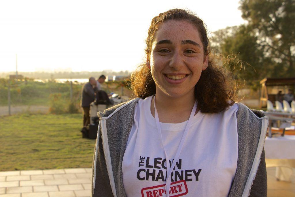 Aya Shmidt, 16, a student from the Eastern Mediterranean International Boarding School (EMIS) in Kfar Hayarok. On March 2, 2017, she participated in mock peace negotiations. (Dov Lieber / Times of Israel)