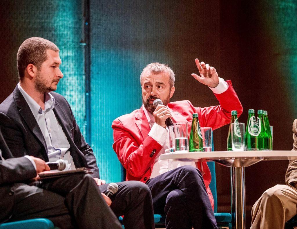 Director Michal Jaskulski, left, with Bogdan Bialek. (Courtesy)