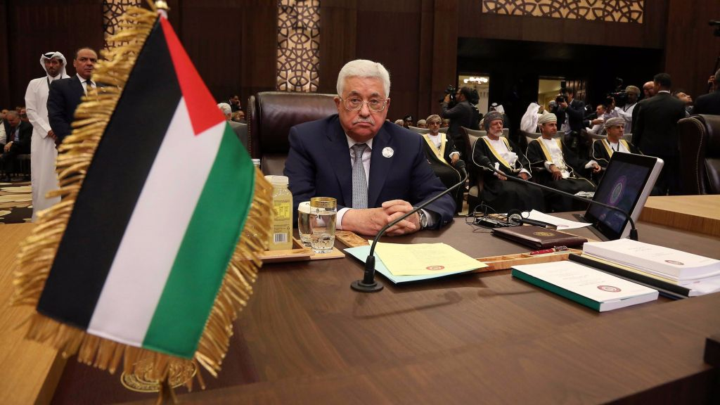 Palestinian President Mahmoud Abbas attends the summit of the Arab League at the Dead Sea, Jordan, March 29, 2017. (AP Photo/ Raad Adayleh)
