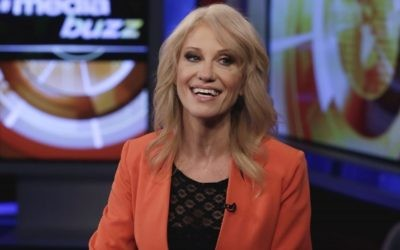 White House counselor Kellyanne Conway is interviewed by Howard Kurtz during a taping of his 'MediaBuzz' program on the Fox News Channel in New York, Friday, March 10, 2017. (AP Photo/Richard Drew)