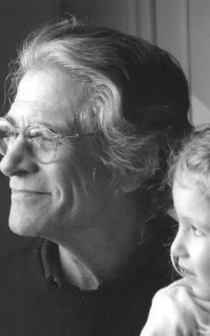 Leslie Epstein with his granddaughter. (Courtesy)