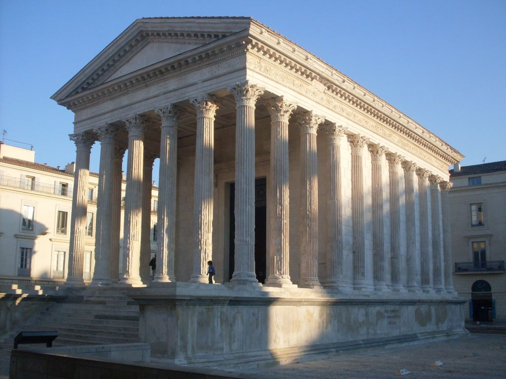 Maison Carree in Nimes in 2011. (Danichou, public domain via Wikimedia Commons)