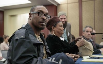 Muhammad Ali Jr., son of the late boxing legend Muhammad Ali, and his mother, Khalilah Camacho-Ali, who was Ali's second wife, attend a forum on Capitol Hill in Washington, Thursday, March 9, 2017, sponsored by House Judiciary Committee members Rep. Zoe Lofgren, D-Calif., and Rep. Luis Gutierrez, D-Ill., a leading advocate in the House for comprehensive immigration reform. (AP/J. Scott Applewhite)