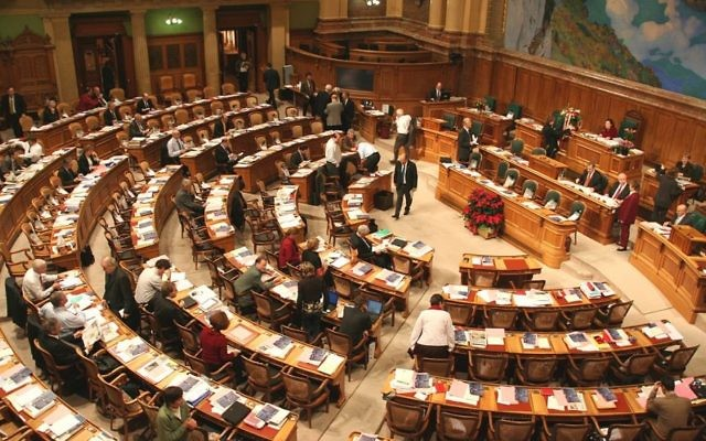 The National Council, the Swiss lower house of parliament. (Attribution: https://www.parlament.ch/, Wikimedia Commons)