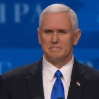 Vice President Mike Pence addresses AIPAC's annual Policy Conference on March 26, 2017, in the Verizon Center in Washington, DC.(Screen capture)