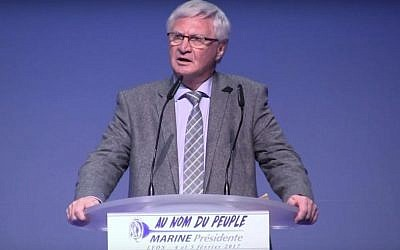 Former communist and current member of the French far-right National Front party Jose Evrard. (Screen capture: YouTube)