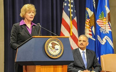 US Senator Tammy Baldwin from Wisconsin (Public Domain, Amy Mathers for the Department of Justice, Wikimedia Commons)