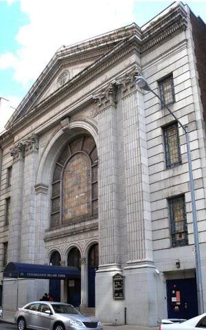 Congregation Shaare Zedek on the Upper West Side's 93rd Street, was used as a backdrop of Joseph Cedar's new film, 'Norman' (Jim.henderson/Wikimedia Commons)