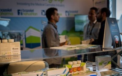 The annual CannaTech event held in Tel Aviv brings together cannabis professionals from Israel and abroad. March 20, 2017. (Miriam Alster/Flash90)