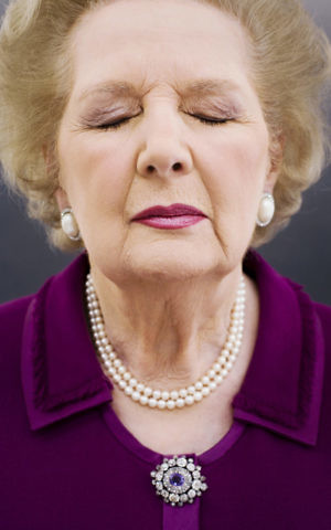 Photographer Harry Borden took this iconic photograph of former UK Prime Minister Margaret Thatcher while on assignment for Time magazine in 2006. (Harry Borden/via JTA)