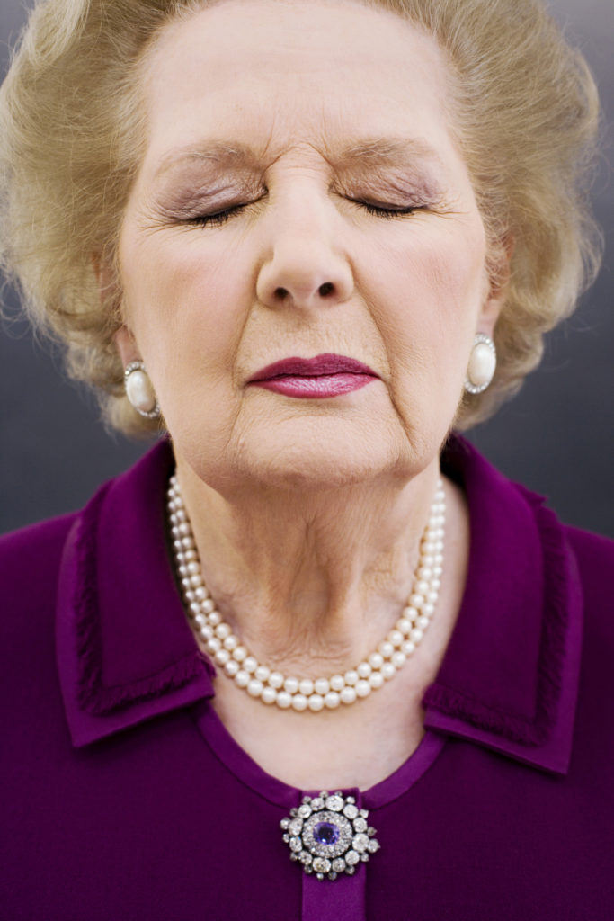 Borden took this iconic photograph of former UK Prime Minister Margaret Thatcher while on assignment for Time magazine in 2006. (Harry Borden/via JTA)