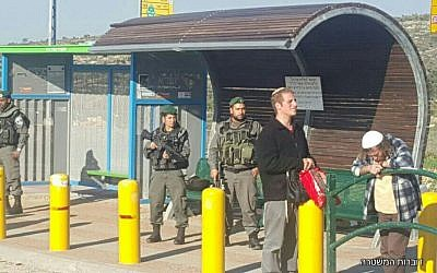 Tapuah Junction in the West Bank, where two Palestinian men were arrested on March 5, 2017, on suspicion of planning a stabbing attack (Police spokesperson)