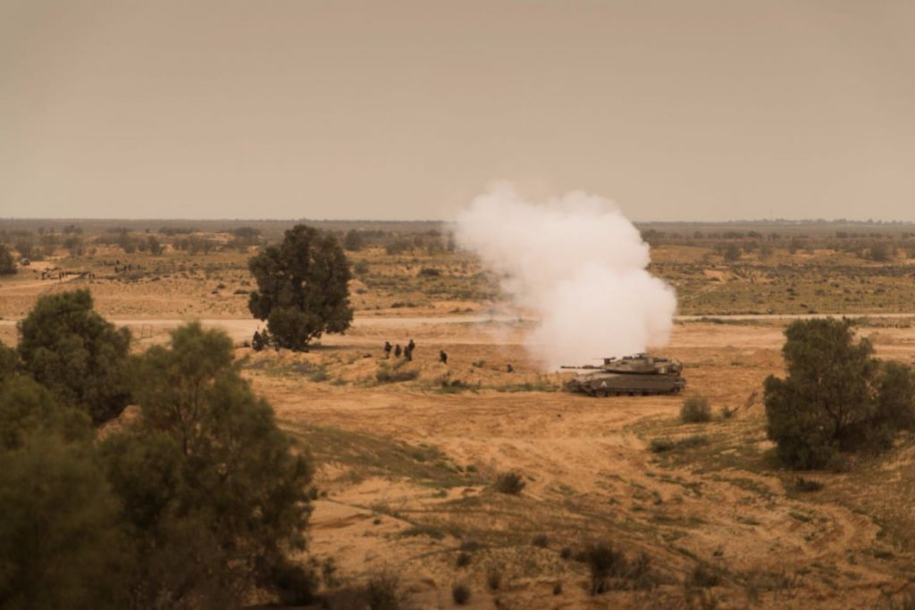 A tank takes part in an IDF drill on March 21, 2017. (IDF Spokesperson Unit)