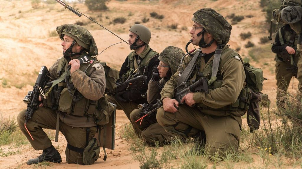 Reservist soldiers take part in an IDF drill on March 21, 2017. (IDF Spokesperson Unit)