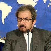 Iranian Foreign Ministry Spokesman Bahram Ghassemi (YouTube screenshot)