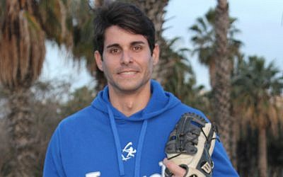 Alejandro Eskenazi has endeared himself to baseball officials in Israel with his personality and love of coaching — not to mention his talent as a pitcher. (Hillel Kuttler/via JTA)