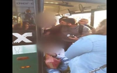 Bus driver allegedly ejects passenger with Down syndrome on March 28, 2017 (Screen capture: Channel 2)