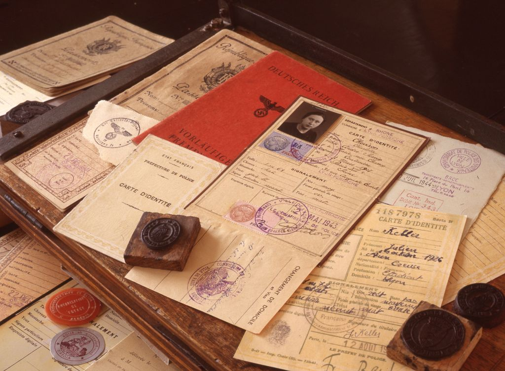 Documents forged by Adolfo Kaminsky. (Courtesy)