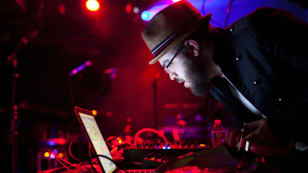Erez Safar, or 'Diwon,' at work DJ-ing. (Courtesy)