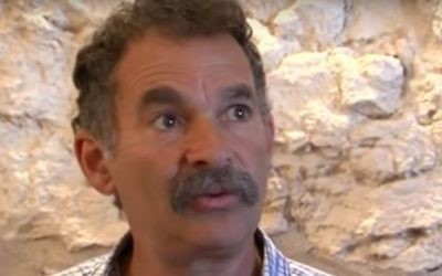David Be'eri, director of the City of David archeological park. (YouTube screenshot)