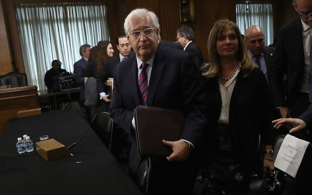 David Friedman, President Donald Trump's nominee to be the US ambassador to Israel, concludes testifying before the Senate Foreign Relations Committee, Feb. 16, 2017. (Win McNamee/Getty Images)