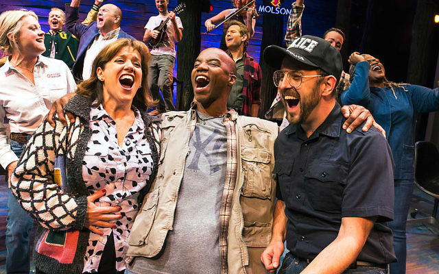 The cast of 'Come From Away.' (Photo by Matthew Murphy/Courtesy Polk and Co.)