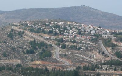 The West Bank settlement of Eli. (CC, BY Akivapath at English Wikipedia)