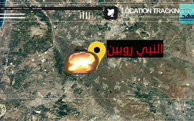 A still from a video threatening Hezbollah attacks on sensitive Israeli sites. (screen capture: alahednews.com)