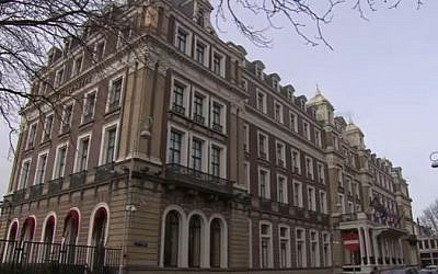 The Amstel Hotel where Noah Nissan's bar mitzvah was held in Amsterdam, Netherlands. (Screen capture/YouTube)