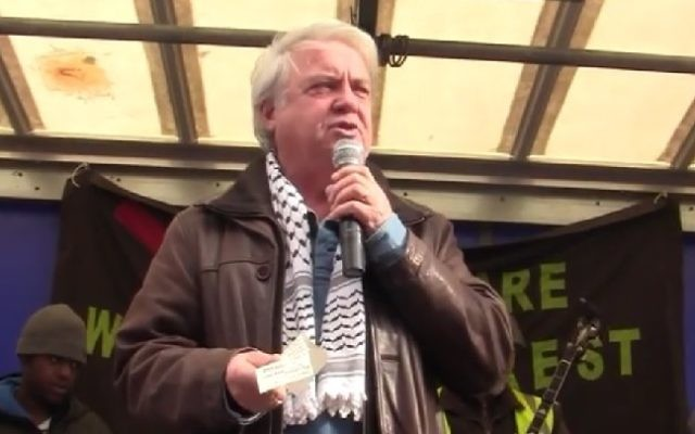 British pro-Palestinian activist Hugh Lanning. (Screenshot)
