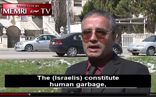 Ahmed Daqamseh, a former Jordanian soldier who killed 7 Israeli schoolgirls, interviewed by Al-Jazeera on his release from jail, March 12, 2017 (Al-Jazeera/MEMRI screenshot)