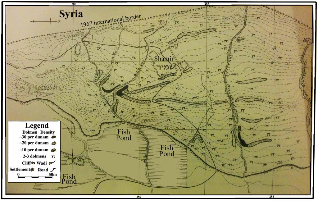 Map of Shamir Dolmen Field (after Kagan 1960). (CC BY Gonen Sharon via PLOS ONE)