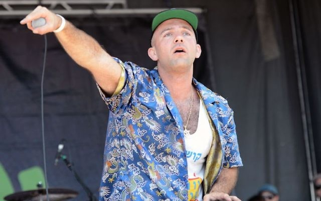 Rapper Kosha Dillz performing in Ventura, California, June 21, 2015. Kosha Dillz is one of the Jewish highlights at this year's South by Southwest festival. (Scott Dudelson/Getty Images)