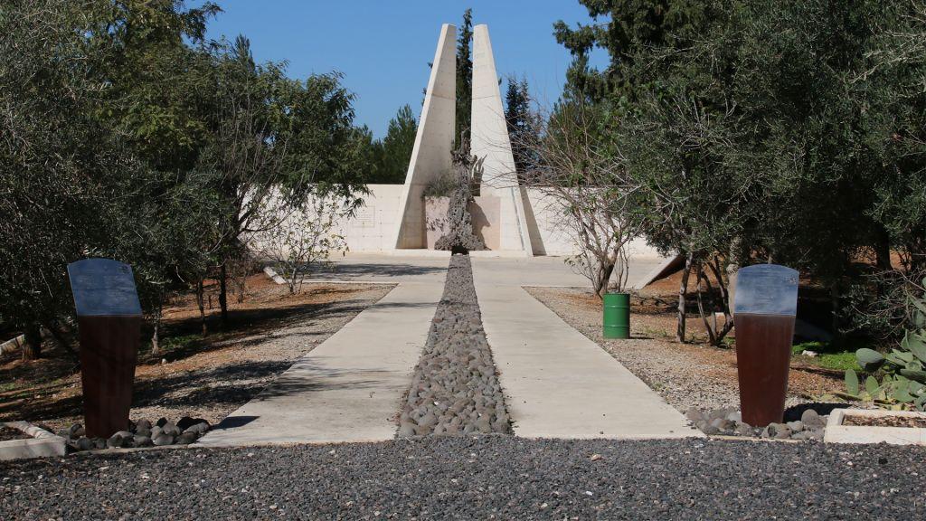 The Lehi monument, located near Kibbutz Mishmar Ayalon in central Israel. (Shmuel Bar-Am)