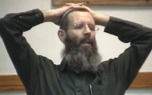 Rabbi Yigal Levinstein teaching a lesson in 2013. (Screen capture: YouTube)