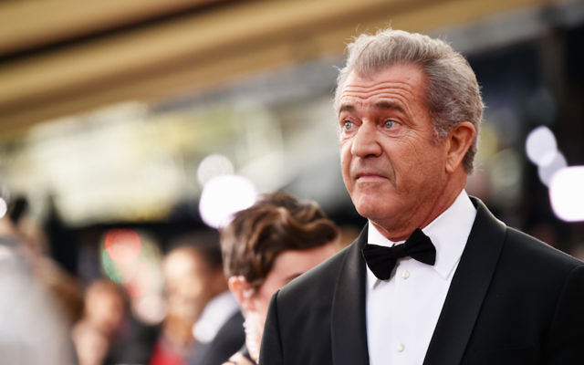 Mel Gibson at the 89th Annual Academy Awards in Hollywood, February 26, 2017. (Frazer Harrison/Getty Images, via JTA)
