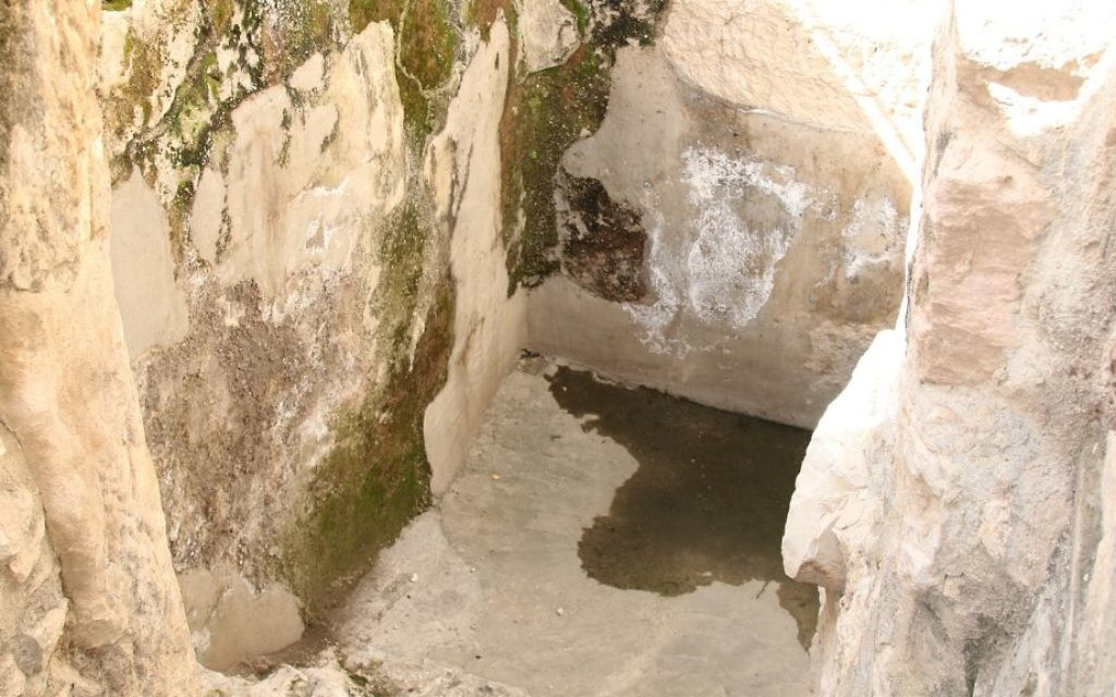 Cisterns were carved into the limestone rock around Jerusalem and coated with plaster to collect and store rainwater. (Shmuel Bar-Am)