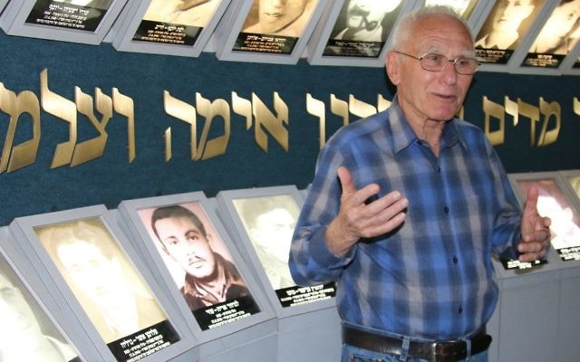Tour guide Moshe Ben Yehuda speaks at the Lehi Museum in Tel Aviv. (Shmuel Bar-Am)