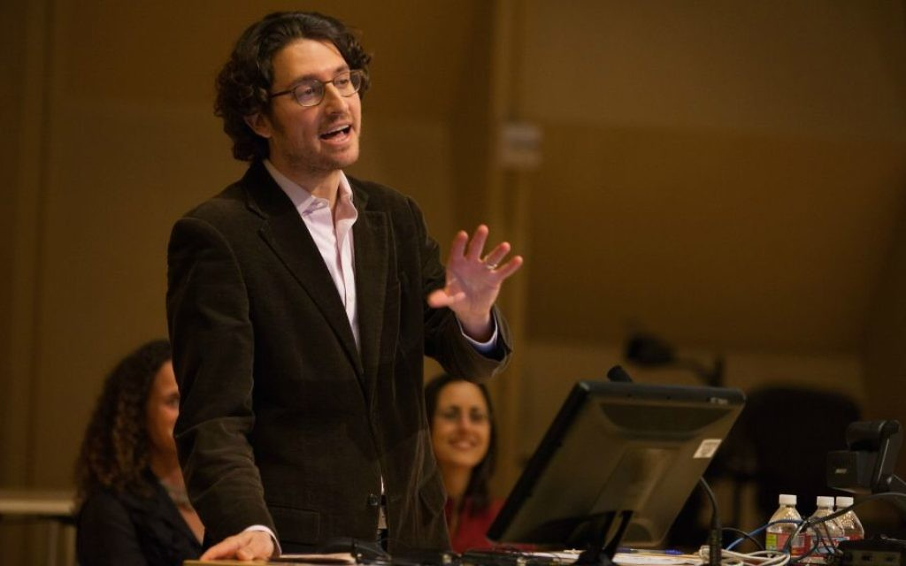 Devin Naar says Ladino connects Jews with Latinos and Muslims, two communities he considers marginalized in Trump's America. (Meryl Schenker Photography/The Stroum Center for Jewish Studies at Washington University/via JTA)